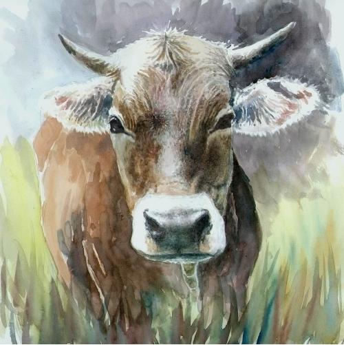 Die freundliche Kuh